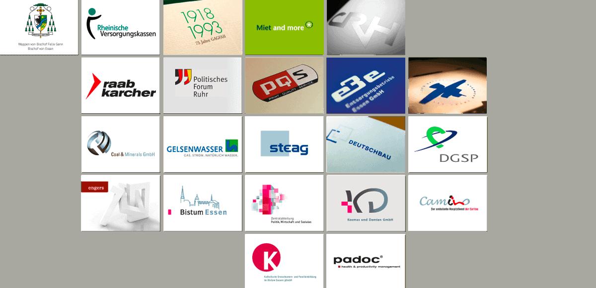 Logodesign / Übersicht aller Logos